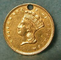 1856 INDIAN PRINCESS UNITED STATES $1 ONE DOLLAR GOLD COIN B