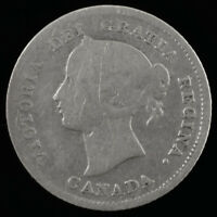 1875H CANADA 5 CENTS LARGE DATE 5C SILVER COIN