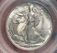 1935 WALKING LIBERTY HALF DOLLAR PCGS MINT STATE 65 CAC OLD GREEN HOLDER