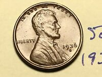 1936 S 1C LINCOLN WHEAT CENT CENT 5039K