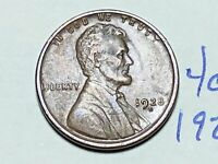 1928-D 1C BN LINCOLN CENT WHEAT CENT 4065K