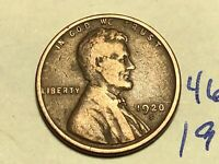 1920-S 1C BN LINCOLN CENT WHEAT CENT 4646K