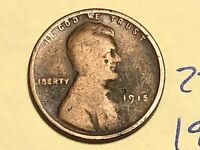 1915 1C BN LINCOLN CENT 2221K WHEAT CENT