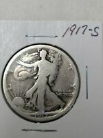 A SILVER WALKING LIBERTY HALF DOLLAR FROM 1917  S-MINT