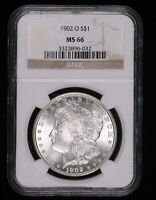 1902 O MORGAN SILVER DOLLAR COIN NGC MINT STATE 66 896-032COK