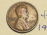 1915 1C BN LINCOLN CENT WHEAT CENT 4233K