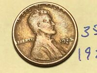 1925-S 1C BN LINCOLN CENT WHEAT CENT 3508K