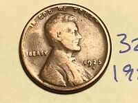 1925-S 1C BN LINCOLN CENT WHEAT CENT 3234K