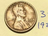 1925-S 1C BN LINCOLN CENT WHEAT CENT 3511K