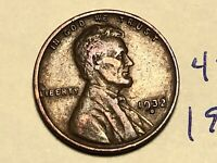1932-D 1C BN LINCOLN CENT WHEAT CENT 4395K