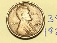1925-S 1C BN LINCOLN CENT WHEAT CENT 3509K