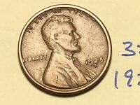 1925-S 1C BN LINCOLN CENT WHEAT CENT 3515K