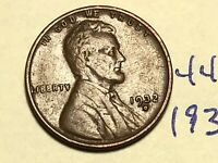 1932-D 1C BN LINCOLN CENT WHEAT CENT 4464K