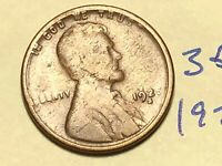 1925-S 1C BN LINCOLN CENT WHEAT CENT 3512K