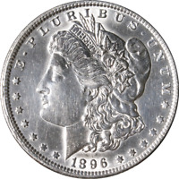 1896-O MORGAN SILVER DOLLAR - CLEANED GREAT DEALS FROM THE EXECUTIVE COIN COMPAN