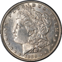 1888-S MORGAN SILVER DOLLAR PCGS MINT STATE 62  EYE APPEAL  LUSTER