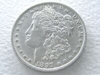 1897-O MORGAN DOLLAR, WELL ABOVE AVERAGE R DATE - ORIG 8-4-K
