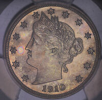 1910 LIBERTY HEAD V NICKEL PROOF PCGS PR65 717632TKJ