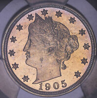 1905 LIBERTY HEAD V NICKEL PROOF PCGS PR65 717629TJR