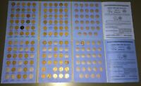 2 1941-1963 LINCOLN HEAD CENT WHITMAN ALBUM STARTER SETS 2 PUT AWAY IN 1963