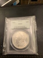1882 MINT STATE 64 MORGAN SILVER DOLLAR SILVER COIN PCGS MINT STATE 64