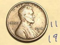 1914-S LINCOLN CENT WHEAT CENT KEY DATE 1C 1186K