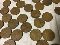 1941 LINCOLN WHEAT CENT ROLL LOT OF 50 1941 P WHEAT CENT ROLL WHEAT PENNIES
