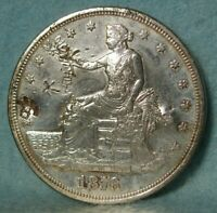 1876 S TRADE DOLLAR HIGH GRADE UNITED STATES SILVER COIN WIT