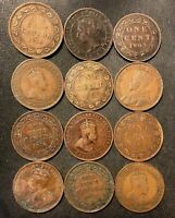 OLD CANADA COIN LOT   1897 1919   12 EXCELLENT LARGE CENTS