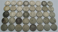 1 ROLL 40 COINS LIBERTY V NICKELS 1898-1912 5C, BARBER CIRCULATED