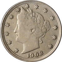 1908 LIBERTY V NICKEL GREAT DEALS FROM THE EXECUTIVE COIN COMPANY