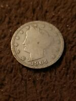 1894 LIBERTY HEAD V NICKEL 5 CENT PIECE- GOOD DETAILS, FULL DATE