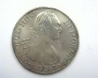 GUATEMALA 1797 NG SILVER 8 REALES LY FINE  DATE