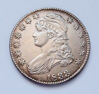 1833 U.S. CAPPED BUST SILVER HALF DOLLAR  ALMOST UNCIRCULATED CONDITION