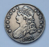 1831 U.S. CAPPED BUST SILVER HALF DOLLAR  EXTRA FINE CONDITION