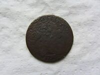 1798 1ST HAIR STYLE 1C BN DRAPED BUST LARGE CENT VG DETAIL BOLD DATE SHOWS