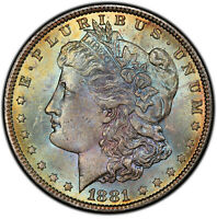 1881 MORGAN DOLLAR VAM-10 PCGS MINT STATE 64 CAC DOUBLE SIDED TONER