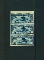 SCOTTC10A 10C DARK BLUE BOOKLET PANE OF 3. F/VF.