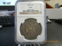 THE KEY DATED MORGAN DOLLAR 1893-S  NGC  FINE-12