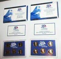 2005S/2006S PROOF CLAD STATE QUARTERS CA/MN/OR/KS/WV/NV/NE/C