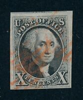 DRBOBSTAMPS US SCOTT 2 USED SOUND WELL CENTERED STAMP W/CLEA