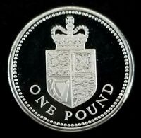 GREAT BRITAIN SILVER 1988 1 POUND COIN PIEDFORT PROOF UNCIRCULATED KM 954A P8