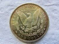 1888-O $1 MORGAN SILVER DOLLAR UNCIRCULATED WITH RAINBOW REVERSE TONING