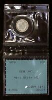 RARE 1878  PRE PCGS  GEM SEATED LIBERTY DIME IN DAVID HALL S