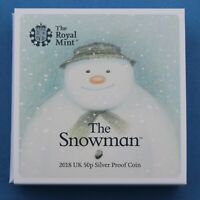 ROYAL MINT SNOWMAN 2018 SILVER PROOF 40TH ANNIVERSARY 50P CO