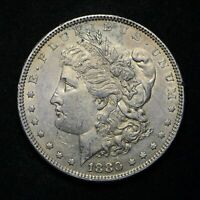 1880 MORGAN SILVER DOLLAR VAM 6 SPIKES 8 OVER 7 TOP OF 8 AU CN7223