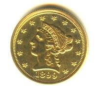 1899 LIBERTY QUARTER EAGLE MS PL SCARCE DATE $2.50 GOLD VERY
