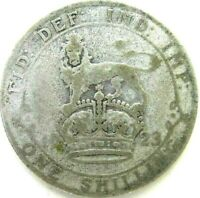 GREAT BRITAIN UK COINS ONE SHILLING 1923 GEORGE V SILVER 0.5