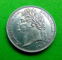 A  CRACKING  BU  GEM   1821   SILVER  SIXPENCE  6D  LUCIDO_8