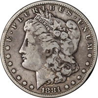 1881-CC MORGAN SILVER DOLLAR CHOICE F/VF KEY DATE GREAT EYE APPEAL  STRIKE